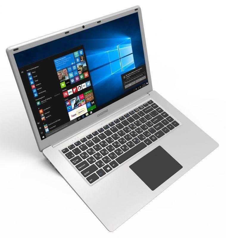 "Ноутбук 15.6"" Digma EVE 605 серебристый - фото 1"