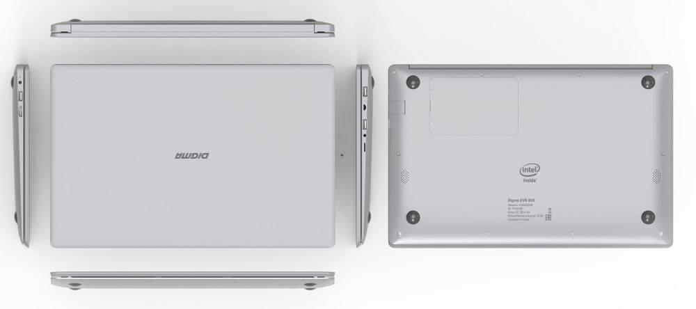 "Ноутбук 15.6"" Digma EVE 605 серебристый - фото 8"
