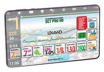 """GPS-навигатор Lexand SC 7 Pro HD 7"""" черный"""