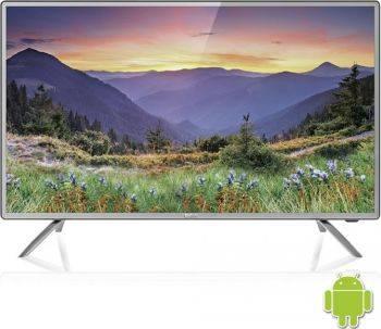 Телевизор LED BBK 32LEX-5042/T2C темно-серебристый, диагональ экрана 32 (81.28 см), HD READY (720p), частота обновления 50Hz, тюнер DVB-T2, DVB-C, USB разъем, встроенный WiFi, поддержка Smart TV