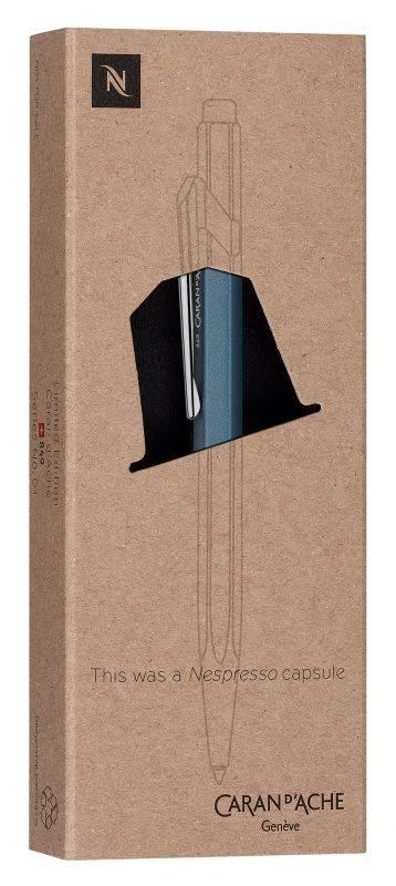 Ручка шариковая Carandache Office NESPRESSO Blue Darkhan (849.159) - фото 3