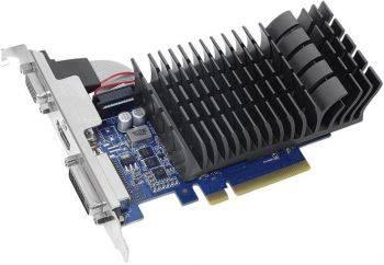 Видеокарта Asus GT730-SL-2G-BRK-V2, процессор nVidia GeForce GT 730 902 МГц, объем видеопамяти 2048 Мб 64 бит GDDR3 1600 МГц, интерфейс PCI-E, разъёмы DVIx1/HDMIx1/CRTx1, поддержка HDCP, low profile, Ret