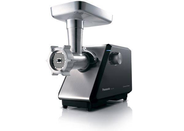 Мясорубка Panasonic MK-ZJ3500KTQ черный/серебристый - фото 1