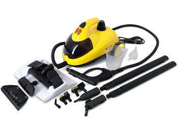 Пароочиститель напольный Kitfort КТ-908-2 желтый / черный