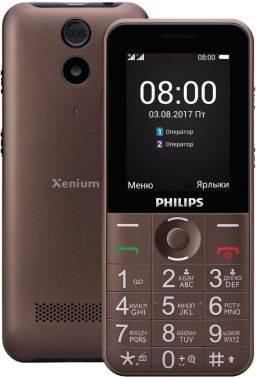 Мобильный телефон Philips Xenium E331 коричневый