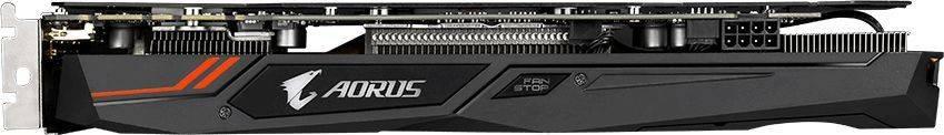 Видеокарта Gigabyte GeForce GTX 1070TI 8192 МБ (GV-N107TAORUS-8GD) - фото 4
