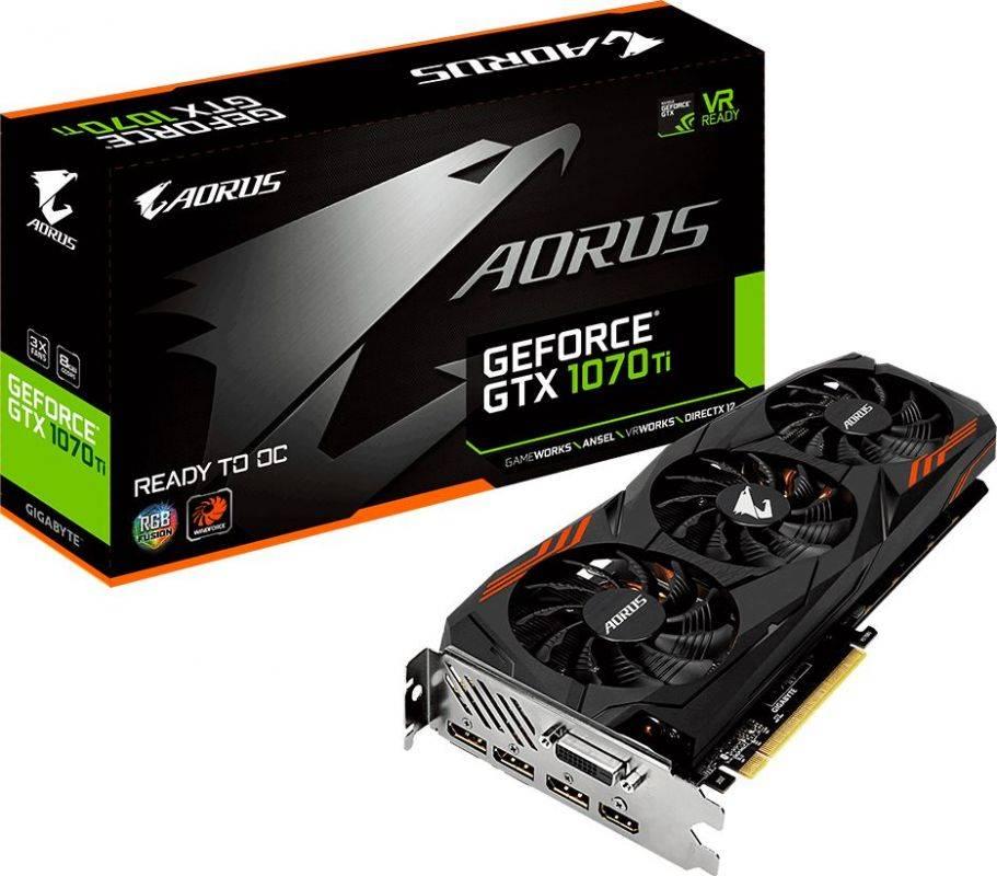 Видеокарта Gigabyte GeForce GTX 1070TI 8192 МБ (GV-N107TAORUS-8GD) - фото 6