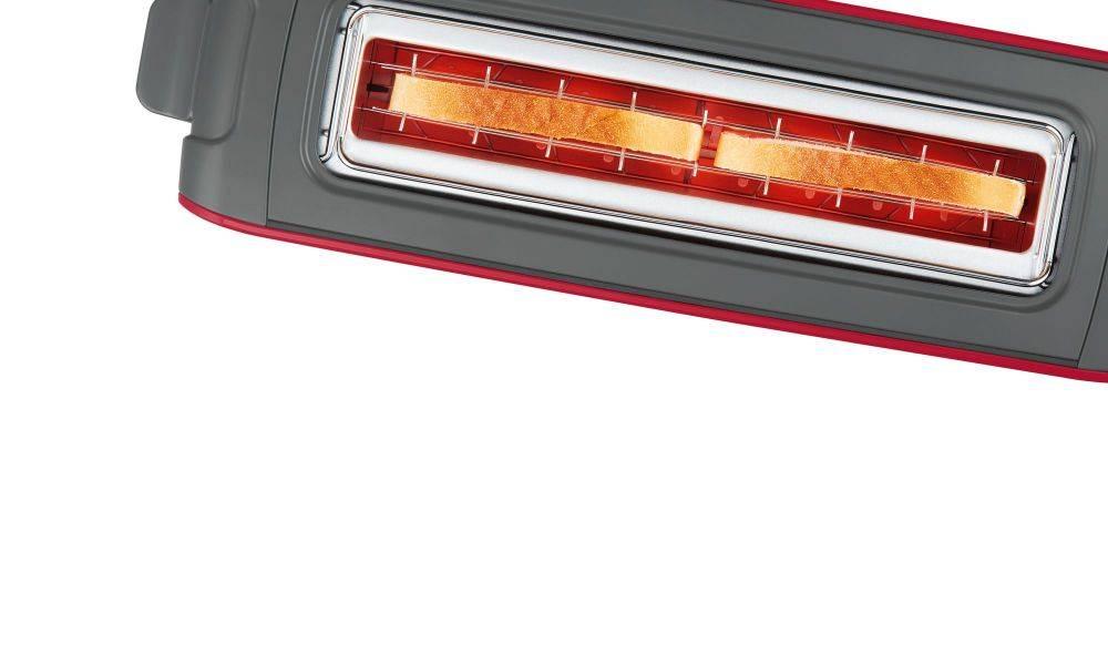 Тостер Bosch TAT6A004 красный - фото 6