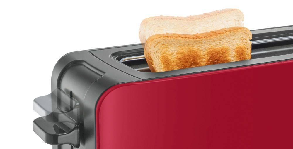 Тостер Bosch TAT6A004 красный - фото 8