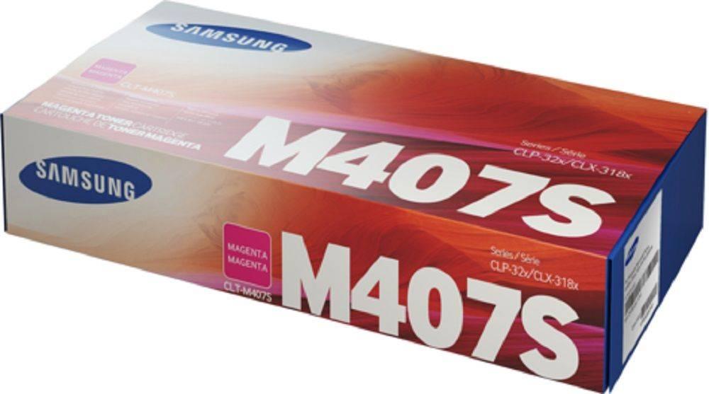 Картридж Samsung CLT-M407S пурпурный (SU266A) - фото 1