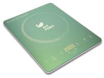 Плита электрическая Kitfort КТ-110-3 бирюзовый (KT-110-3)