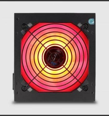 Блок питания AEROCOOL KCAS-650G черный, ATX, мощность 650W, стандарт 80+ gold, коррекция мощности APFC, питание МП (24+4+4pin), питание видеокарты 2х(6+2) pin, 7xSATA, размер вентилятора 120мм, цвет подсветки многоцветная, RTL