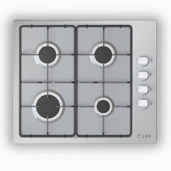 Газовая варочная поверхность Lex GVS 644-1 IX нержавеющая сталь (CHAO000174)