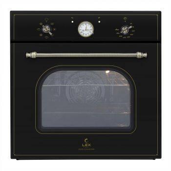 Духовой шкаф электрический Lex Classico EDM 070C BL стекло черное (CHAO000200)