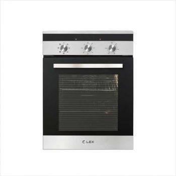 Духовой шкаф электрический Lex EDM 4570 IX стекло белое (CHAO000302)