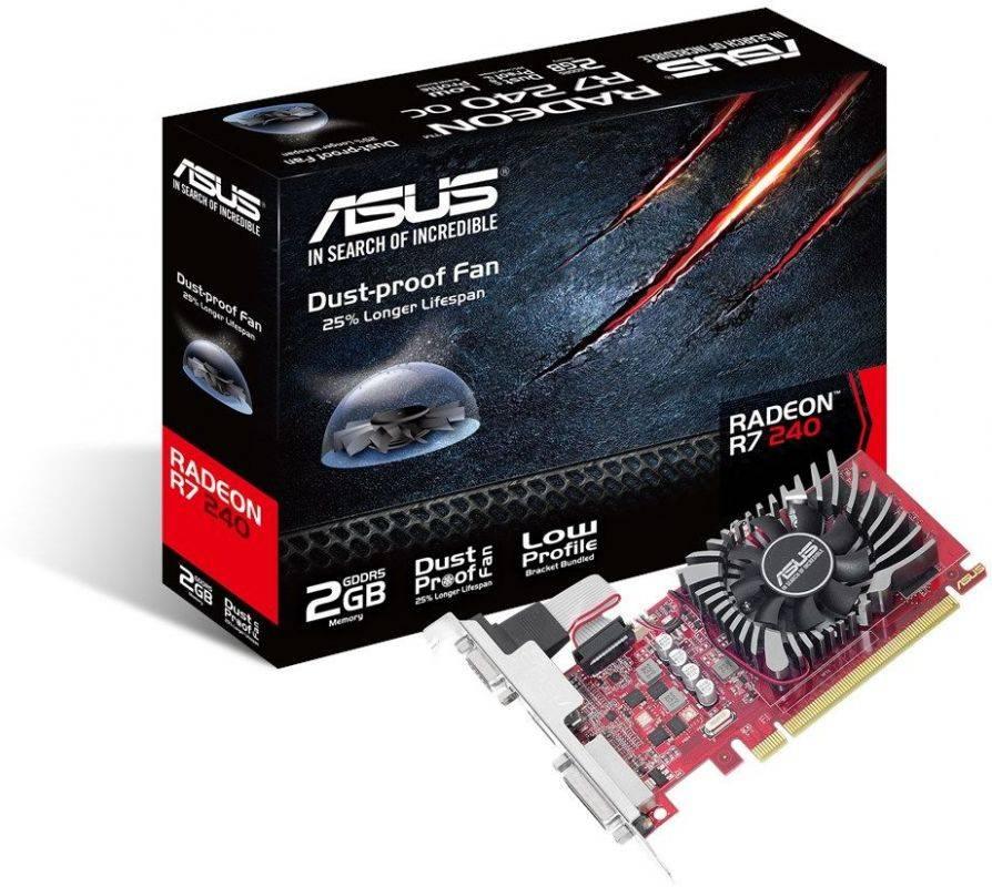 Видеокарта Asus Radeon R7 240 2048 МБ (R7240-2GD5-L) - фото 4