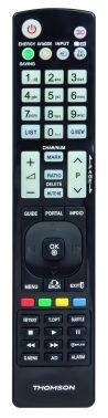 Универсальный пульт Thomson H-132499 LG TVs черный (00132499)