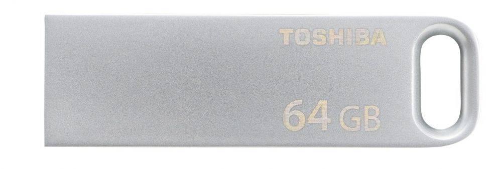 Флеш диск Toshiba Biwako U363 64ГБ USB3.0 серебристый (THN-U363S0640E4) - фото 1