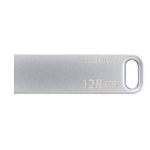 Флеш диск Toshiba Biwako U363 128ГБ USB3.0 серебристый - фото 1