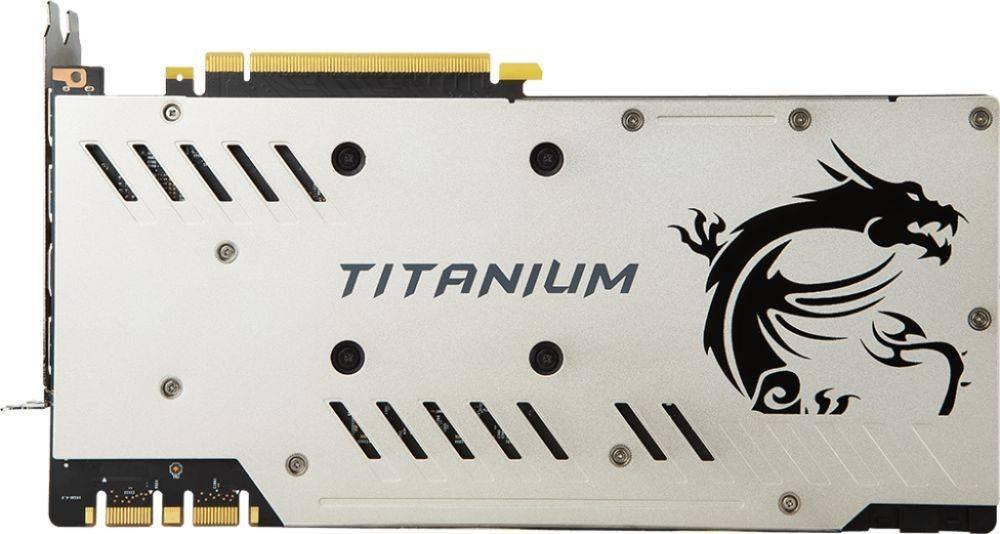 Видеокарта MSI GTX 1070 TI TITANIUM 8G 8192 МБ - фото 3