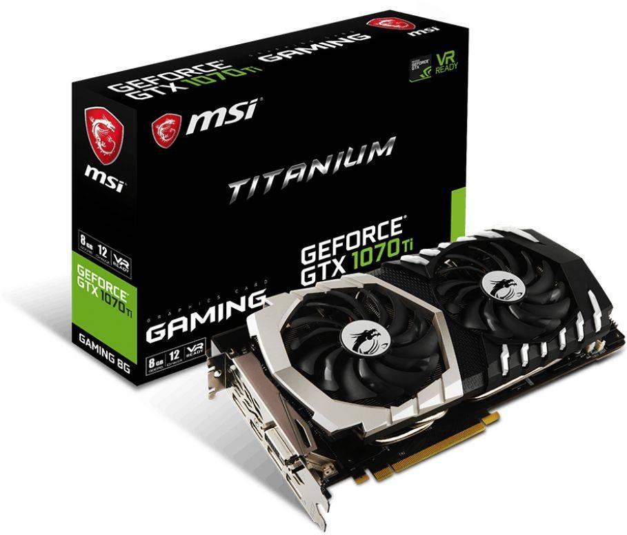Видеокарта MSI GTX 1070 TI TITANIUM 8G 8192 МБ - фото 5
