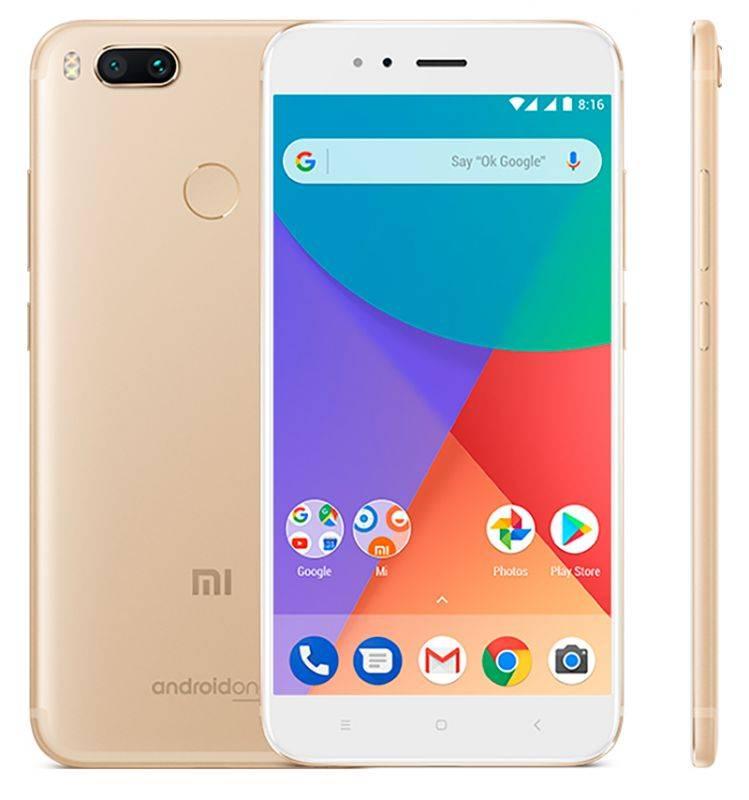 Смартфон Xiaomi Mi A1 32ГБ золотистый - фото 1