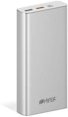 Мобильный аккумулятор HIPER MPX20000 серебристый (MPX20000 SILVER)