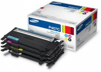Картридж Samsung CLT-P407C желтый/голубой/пурпурный/черный (su388a) (плохая упаковка)