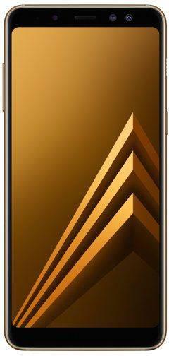 Смартфон Samsung Galaxy A8 (2018) SM-A530F 32ГБ золотистый - фото 1