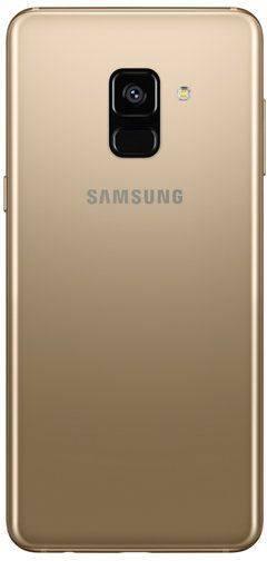 Смартфон Samsung Galaxy A8 (2018) SM-A530F 32ГБ золотистый - фото 2