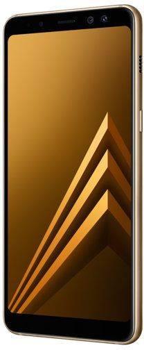 Смартфон Samsung Galaxy A8 (2018) SM-A530F 32ГБ золотистый - фото 3
