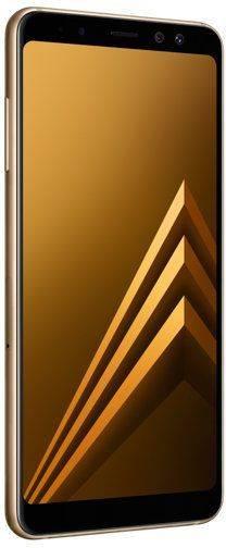 Смартфон Samsung Galaxy A8 (2018) SM-A530F 32ГБ золотистый - фото 4