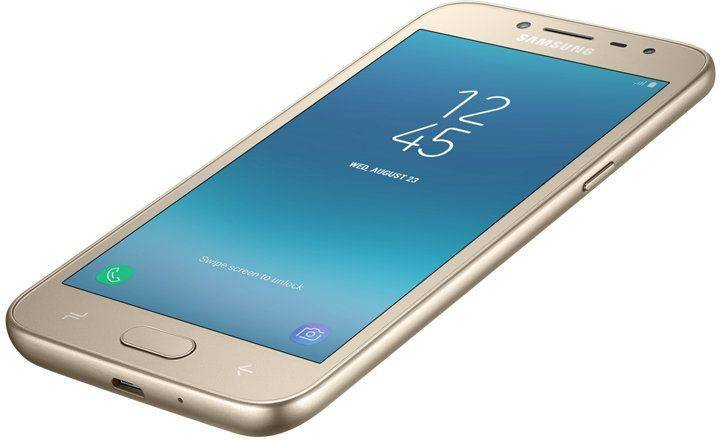 Смартфон Samsung Galaxy J2 (2018) SM-J250 16ГБ золотистый - фото 11
