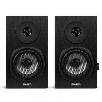 Колонки Sven SPS-575 черный, акустический тип 2.0, суммарная звуковая мощность 6Вт