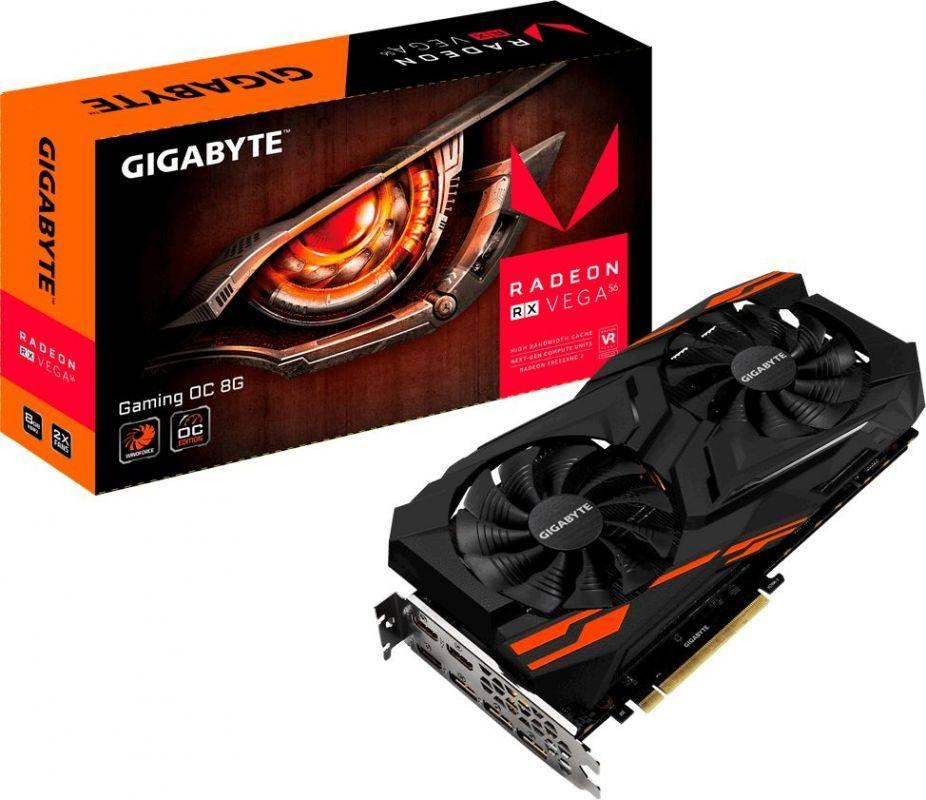 Видеокарта Gigabyte Radeon RX VEGA 56-8G 8192 МБ (GV-RXVEGA56GAMING OC-8GD) - фото 6