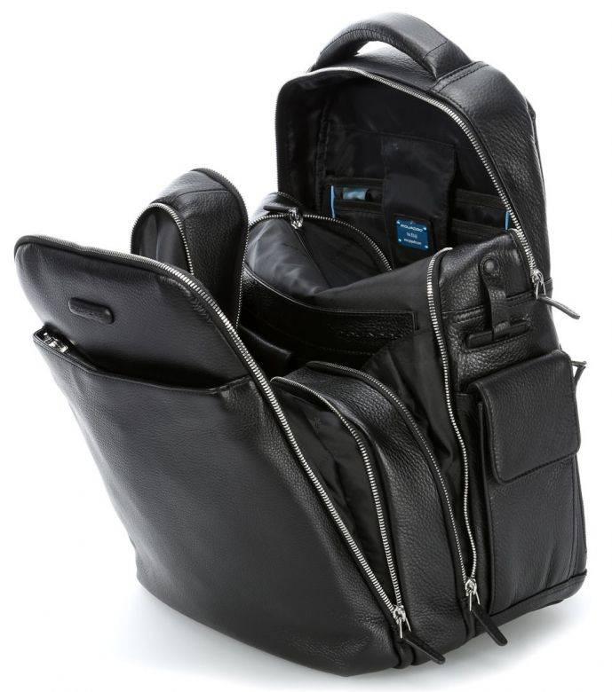 Рюкзак Piquadro Modus черный, кожа натуральная (CA3444MO/N) - фото 2