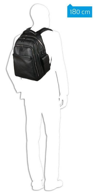 Рюкзак Piquadro Modus черный, кожа натуральная (CA3444MO/N) - фото 6