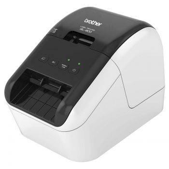 Принтер для печати наклеек Brother QL-800 серебристый/черный (QL800R1)