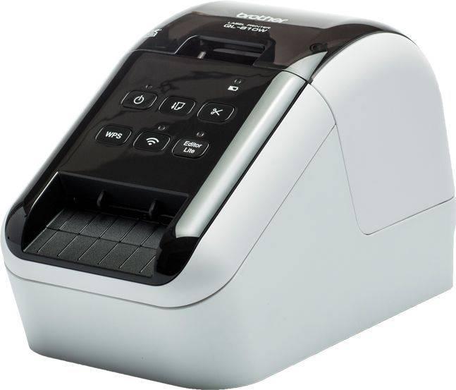 Принтер для печати наклеек Brother QL-810W серебристый/черный (QL810WR1) - фото 1