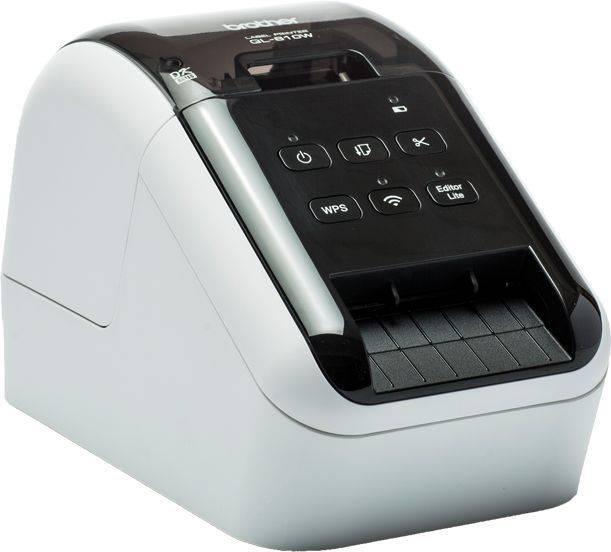 Принтер для печати наклеек Brother QL-810W серебристый/черный (QL810WR1) - фото 2