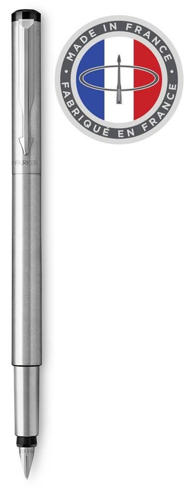 Ручка перьевая Parker Vector Standard F03 Stainless Steel CT (2025443) - фото 1