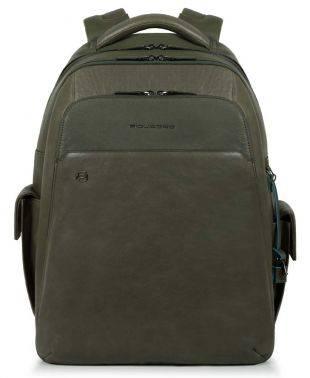 Рюкзак Piquadro Black Square зеленый, кожа натуральная (CA3444B3BM/VE)