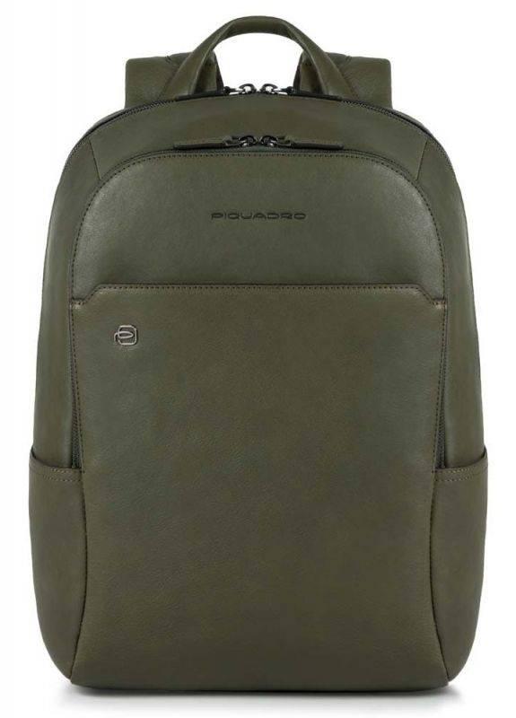 Рюкзак унисекс Piquadro Black Square зеленый, кожа натуральная (CA3214B3/VE) - фото 1