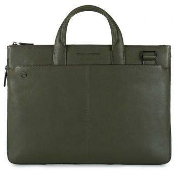 Сумка для ноутбука Piquadro Black Square зеленый, кожа натуральная (CA4021B3/VE)