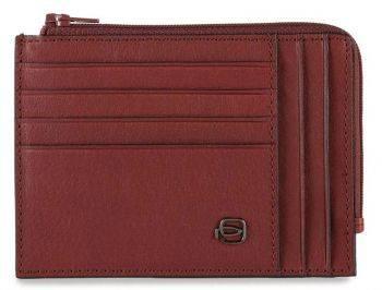 Чехол для кредитных карт Piquadro Black Square PU1243B3R/R красный натур.кожа