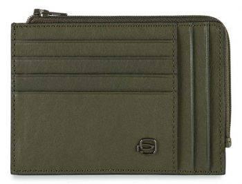 Чехол для кредитных карт Piquadro Black Square PU1243B3R/VE зеленый натур.кожа