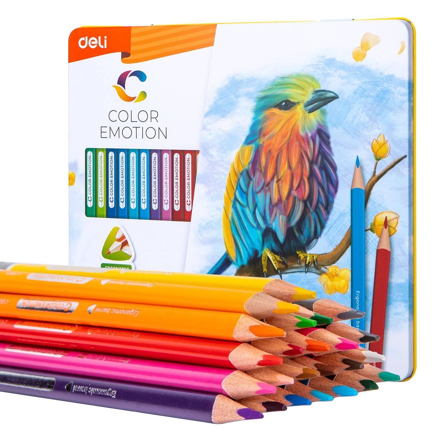Карандаши цветные Deli EC00225 24цв. - фото 1