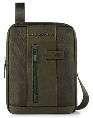 Сумка Piquadro Brief зеленый, кожа натуральная и ткань (CA1816BR/VE)