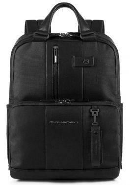 Рюкзак Piquadro Brief черный, кожа натуральная и ткань (CA3975BR/N)