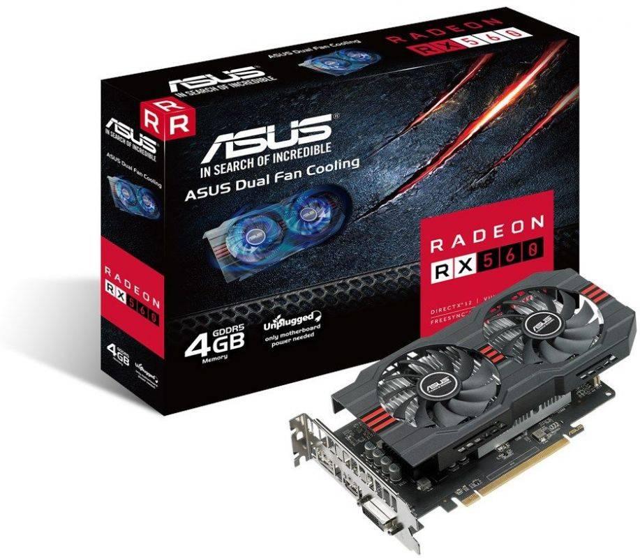 Видеокарта Asus Radeon RX 560 4096 МБ (RX560-4G-EVO) - фото 5